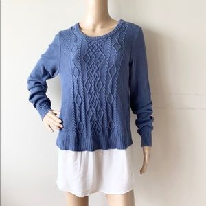 Two by Vince Camuto Layered Knit Tunic Sweater